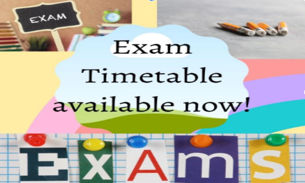 2021 May Examination Timetables